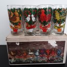 Vintage 1970's - 12 Days of Christmas Glass Tumblers - Complete set!