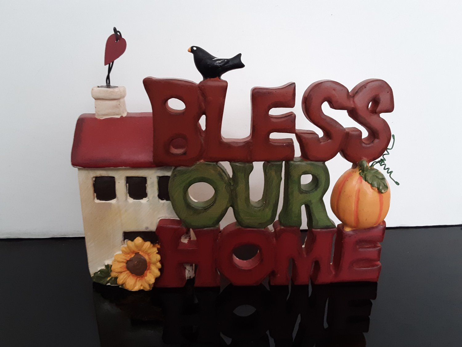 "Vintage Home Decor Accent ""Bless Our Home"""