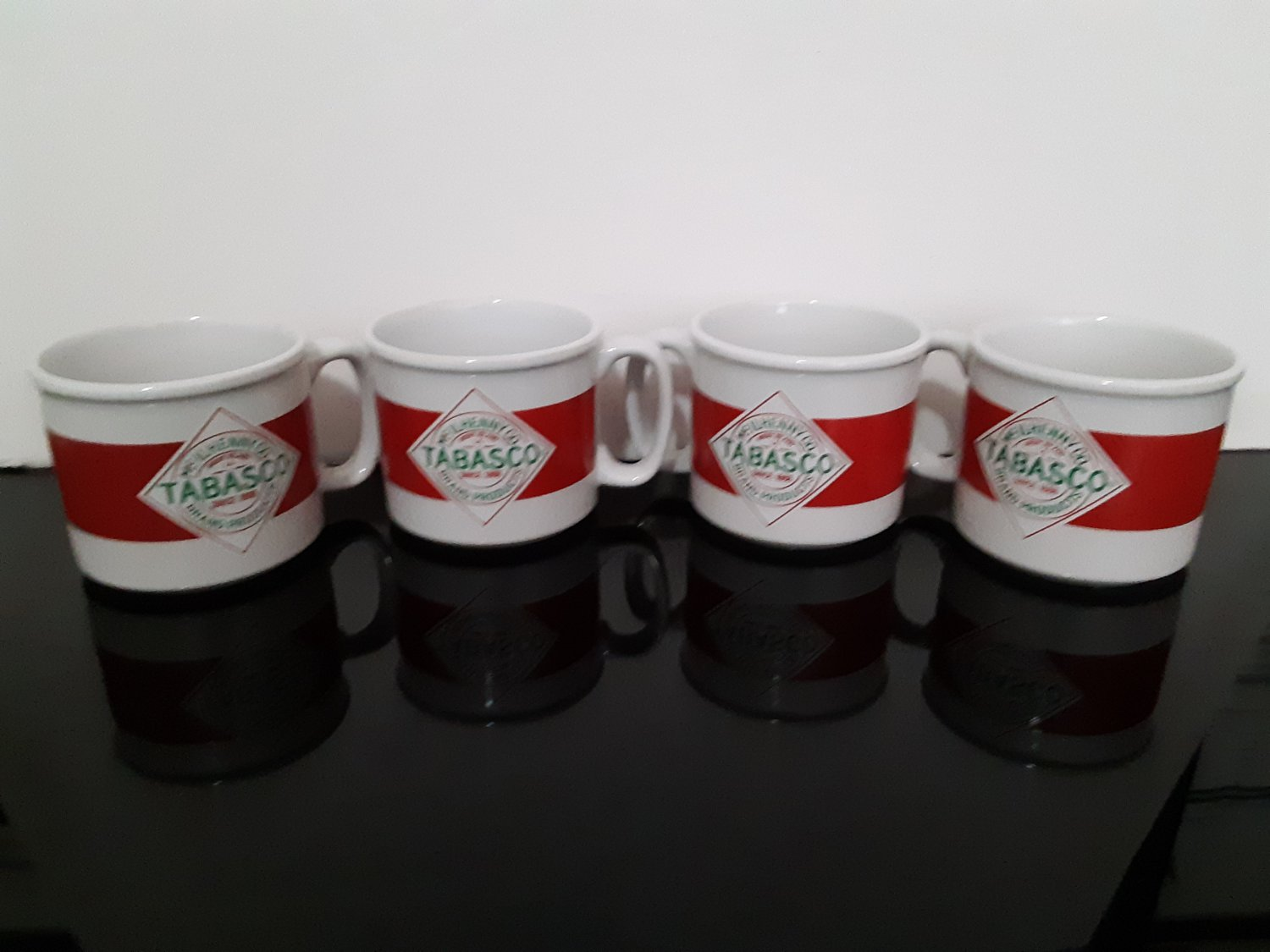 "4 - Vintage ""Tabasco"" Mugs"