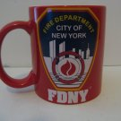 """Vintage Official """"New York City"""" Fire Department Coffee Mug"""