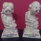 Vintage 1970 - W & R Berries Figurines - World's Greatest Grandma and Grandpa Figurines