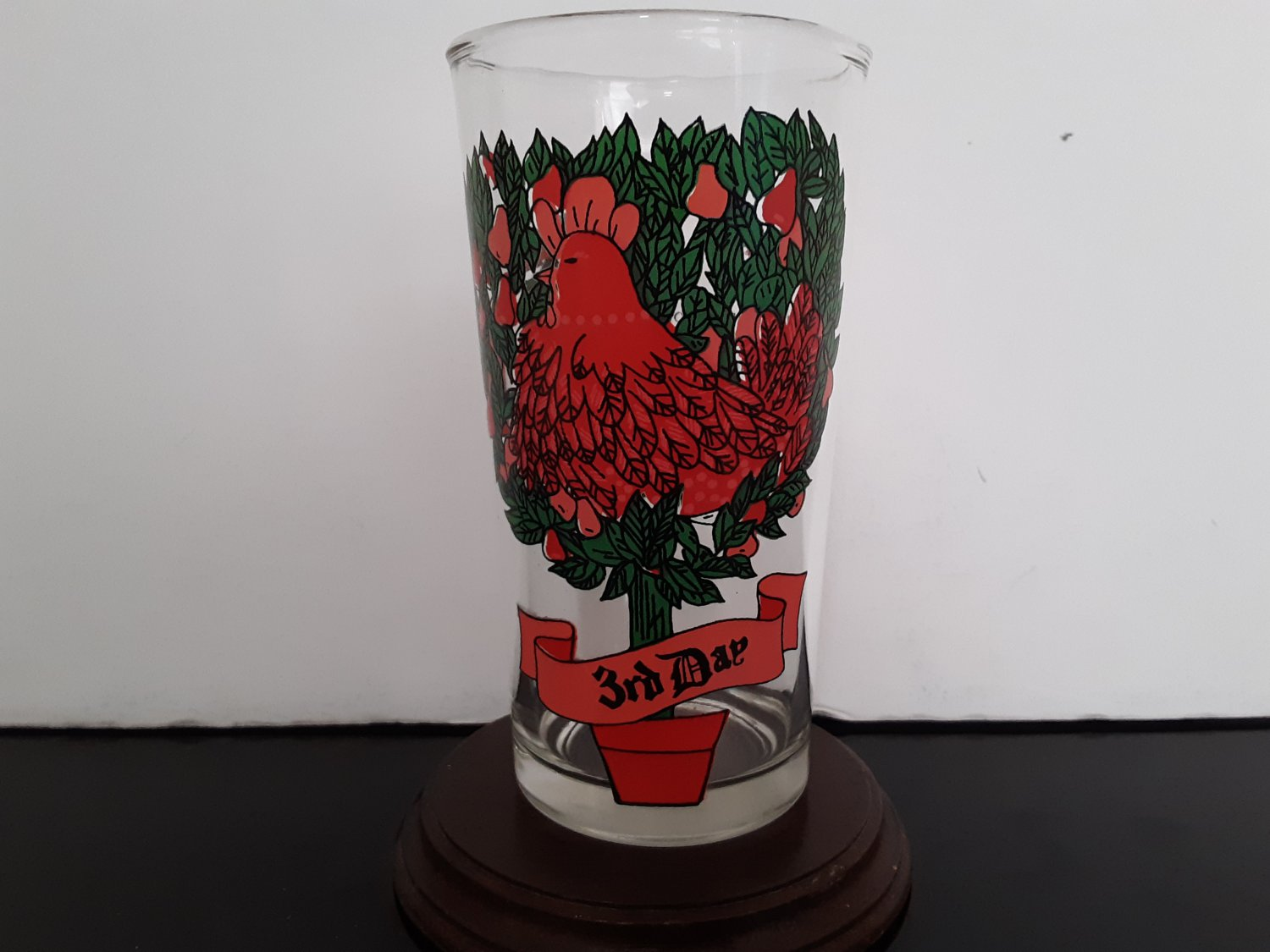 The 12 Days of Christmas Glass - 3rd Day - Replacement Glass