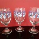 3 - Christmas Goblets - Snowman/Snowflake Design -  16oz Goblets!