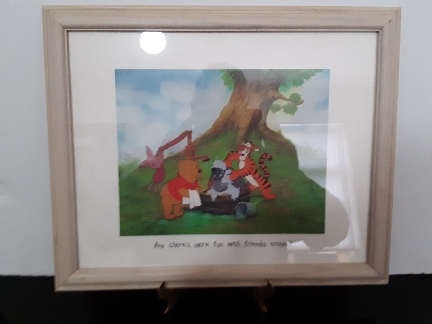 1997 - Winnie The Pooh & Friends - 11x14 Framed Lithograph