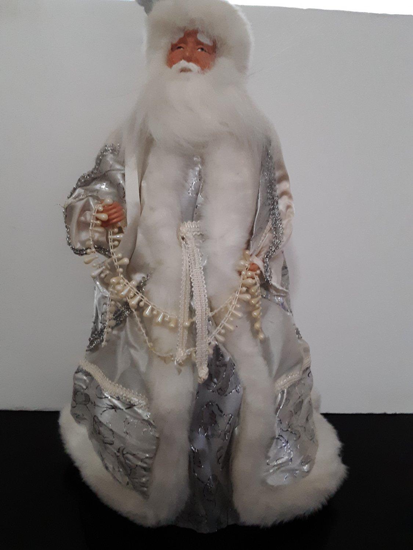 18' Silver Santa Claus Tree Topper / Decoration