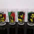 Bob Marley Glasses  - Set of 4