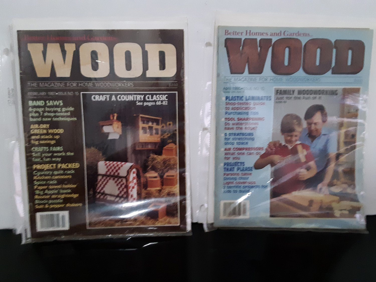 """Wood"" Magazine April 1986 & February 1987"