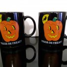 "2 - Vintage 1989 ""Trick or Treat"" Mugs"