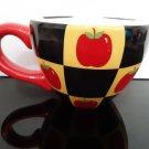 "Large ""Lady Jayne"" Soup / Coffee Mug - Apples over checker board"