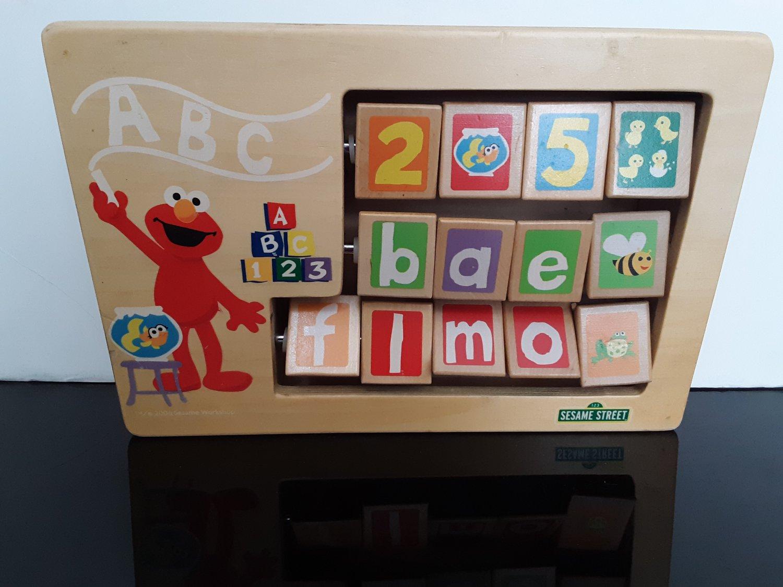 Vintage Sesame Street - All Wood Block Interactive Toy