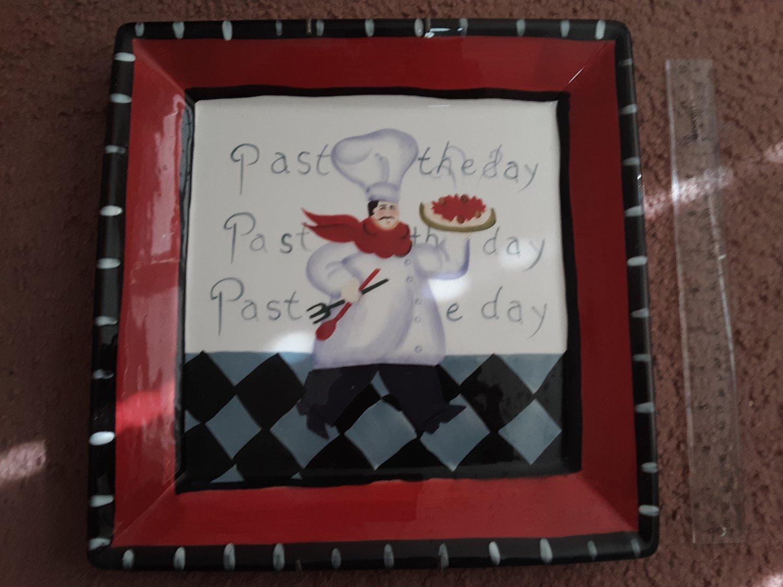 """Vintage Jennifer Brinley """"Pasta Of the Day"""" Large Platter"""