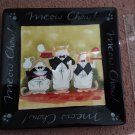 """Vintage Tracy Flickinger """"Meow Chow"""" Large Platter"""