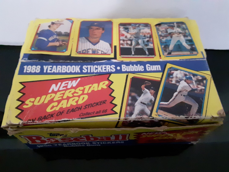 1988 Topps Yearbook Sticker / Superstar Cards