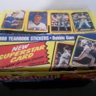 1988 Topps Yearbook Sticker / Superstar Cards