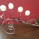 Santa Claus & Reindeer Chrome 4 Tier Candle Holder