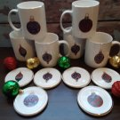 "6 Mugs & 6 Coasters - Fantastic  ""Christmas Ornament"" Design by Gibson!"