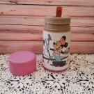 Vintage Disney - Mickey & Minnie Mouse In Paris Thermos