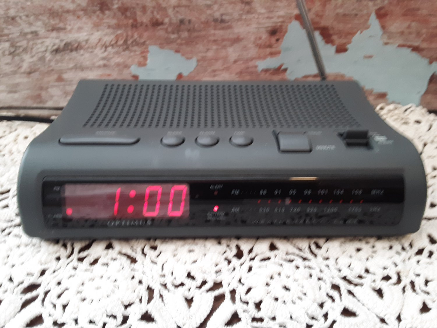 Optimus AM/FM Alarm Clock Radio with Weather And Emergency Band Alert's