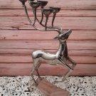 Silver Deer/Buck - 6 Tealight Candle Holder by Godinger   (1941)