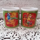 2 Disney Winnie The Pooh with Tigger and Piglet Mugs