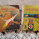 "Vintage 1959 - Golden Library Of Knowledge Books  - ""Space Flight"" and ""Engines"""