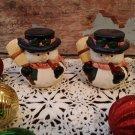 Snowmen Salt and Pepper Shakers