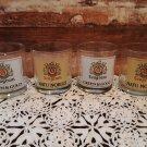 4 - Seagram's Liquor Glasses - Green & Gold / Natu Nobils