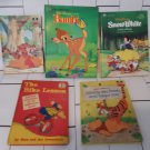 5 Classic Children's Books - 4 Disney & 1 Beginners Book