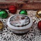 Musical Christmas Trinket Box - Plays White Christmas - Circa 1986