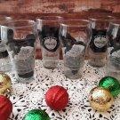 6 Coca-Cola Frosted Santa Claus Design Glasses