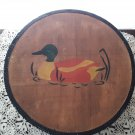 Vintage 1979 Hat Box - Hand Painted Duck