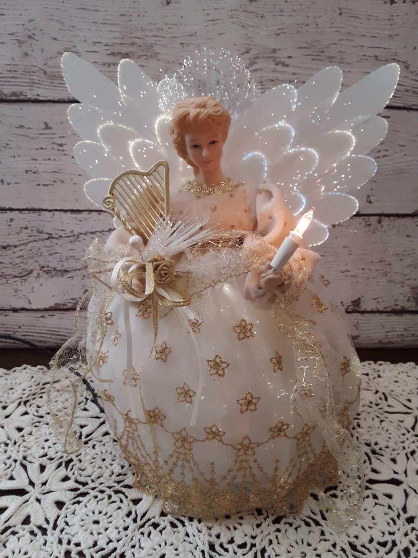 """10"""" Angel Fiber Optic Christmas Display"""