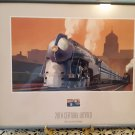 Framed 1999 USPS Stamp - 20th Century Limited - New York To Chicago Train