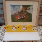 Winnie The Pooh Framed Picture & 3 Hook Baby Chick Shelf