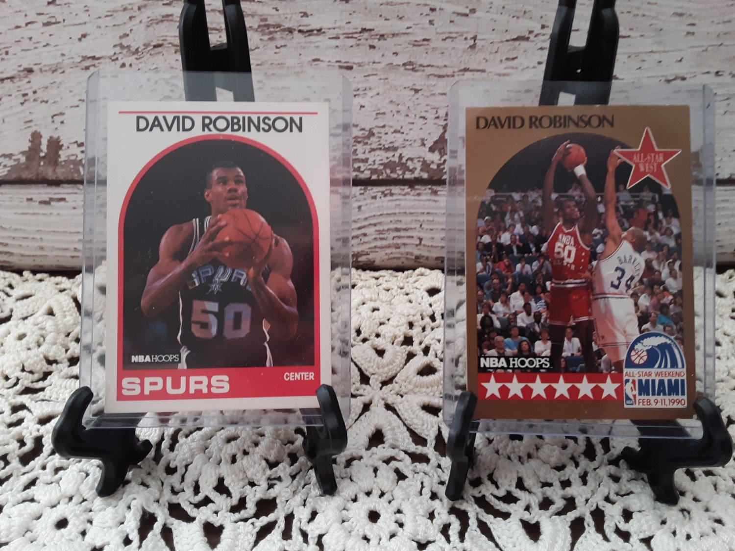 "Hall of Fame Basketball Player - ""David Robinson""  Rookie Card Plus   (1636)"
