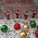Vintage set of 4 Santa Claus Tumblers