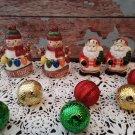 2 - Snowman Let It Snow & Santa Claus Salt / Pepper Shakers