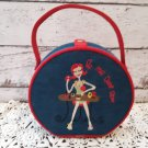 """Vintage Carry Round -  Cosmetic Bag """"Do Me Over Diva"""""""