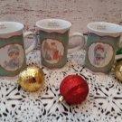 "Vintage 1990's  Set of 3 ""Precious Moments"" Christmas Mugs"