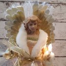 "15"" Fiber Optic Angel Tree Topper / Tabletop Decoration"