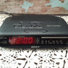 Vintage Sony Dream Machine - AM/FM Dual Alarm Clock Radio - Black - ICF-C370