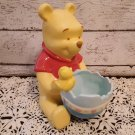 Disney Ceramic Winnie The Pooh Holding Easter Egg Candy Dish w/ Chick