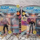 1993 Star Trek TNG - Lieutenant Geordi LaForge & Wesley Crusher Action Figurine - New