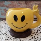 Smiley Face Mug w/Peace Sign Handle