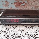 Vintage Sanyo AM/FM Alarm Clock Radio - Woodgrain Finish - RM-5005