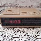 Vintage Sony Dream Machine - Alarm Clock Radio - Tan