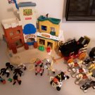 1996 Fisher Price Wild Western Town W/ Many Accessories