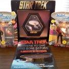1990's Star Trek Collection - Plaque, 2 Figurines & Book!