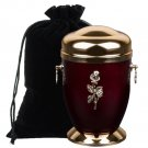 Memorial Ashes Cremation Urn for Adult with Rose Funeral Urn for Human Ashes