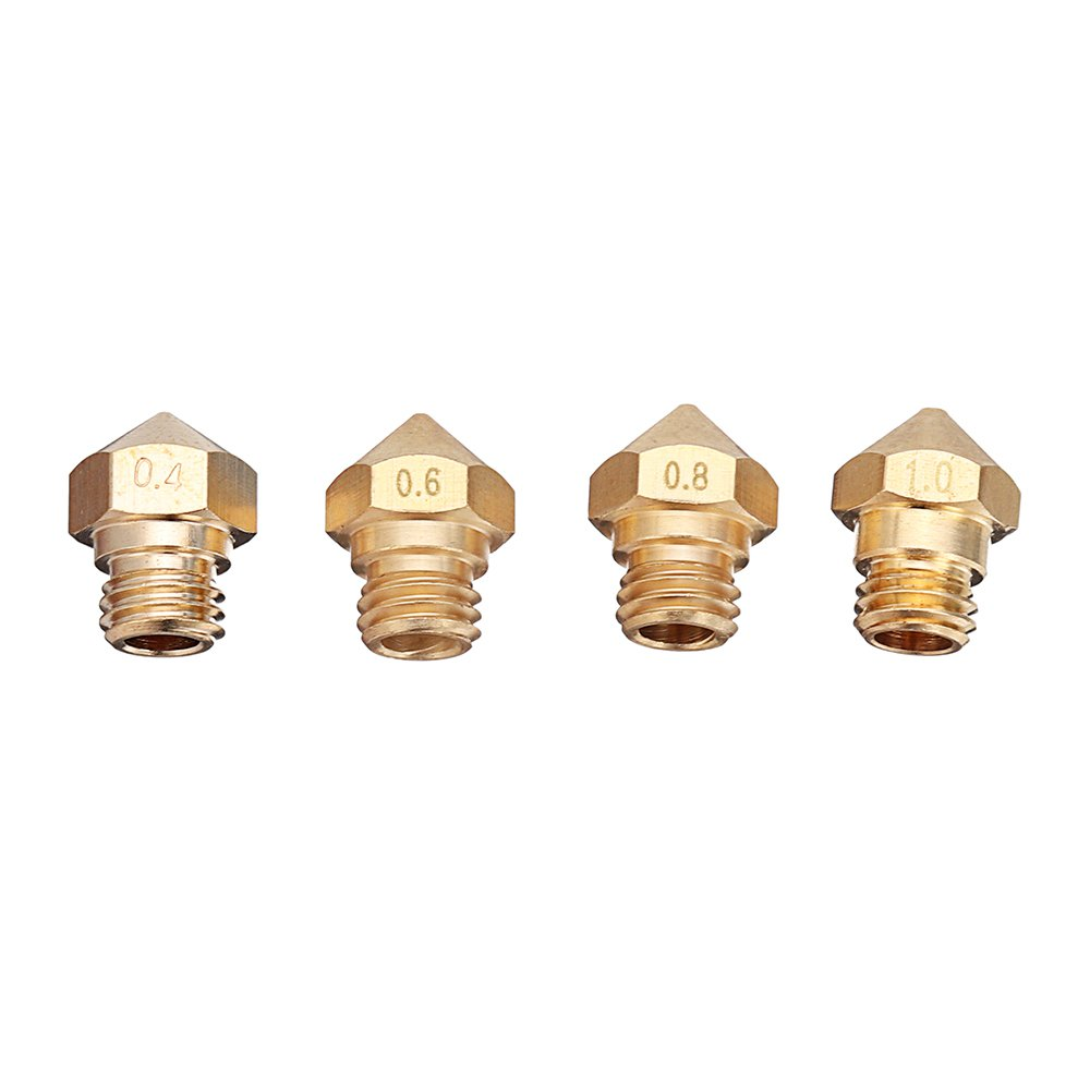 M7 Screw Thread 0.4/0.6/0.8/1.0mm 1.75mm MK10 Copper Nozzle With Number Lettering